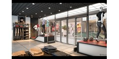 ASSA ABLOY SL500 sliding door system in retail situation