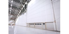 Multiple leaf aviation hangar door system in Australia