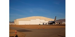 Multiple leaf aviation hangar door system used by StratoLaunch Systems
